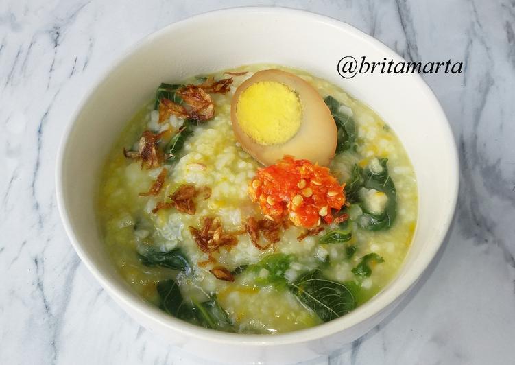 Resep Bubur Sayur Bayam Oleh Brita Marta Resep Resep Makanan Makanan Bayam