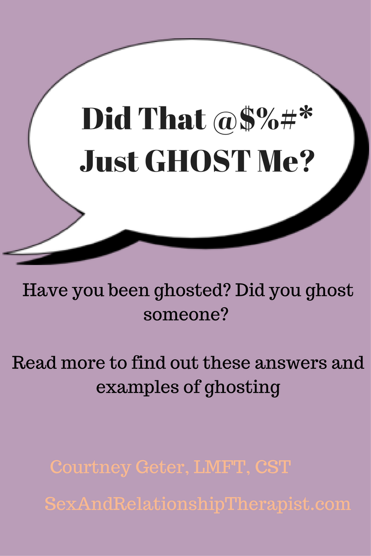 Ghosting and online dating