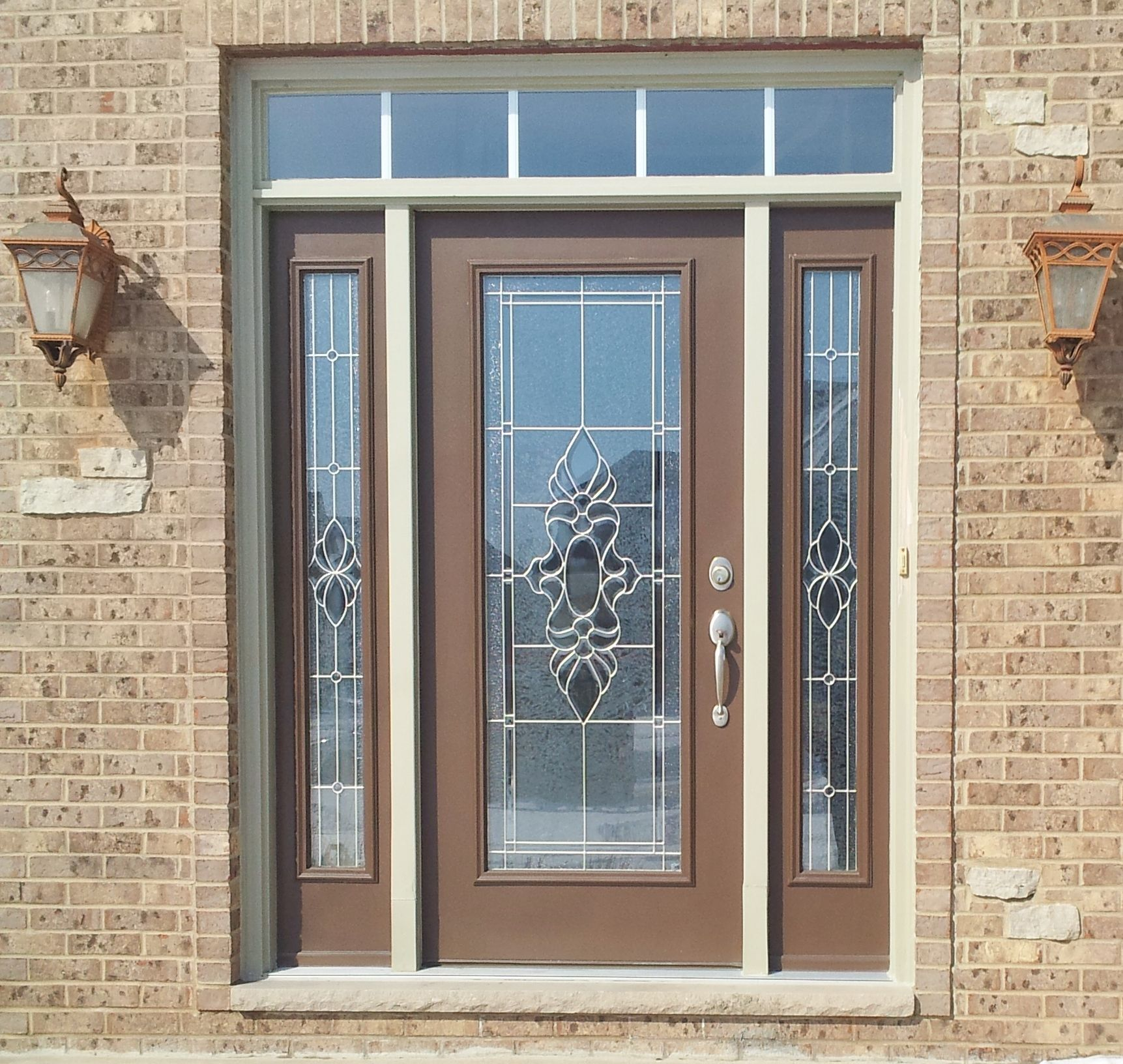 ProVia Legacy Steel Entry Door Exterior Color Tudor Brown