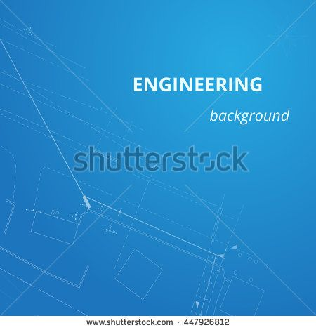 Engineering Background. Blueprint Background. Oil Pipeline Construction.  Technology Abstract. Vector Illustration.