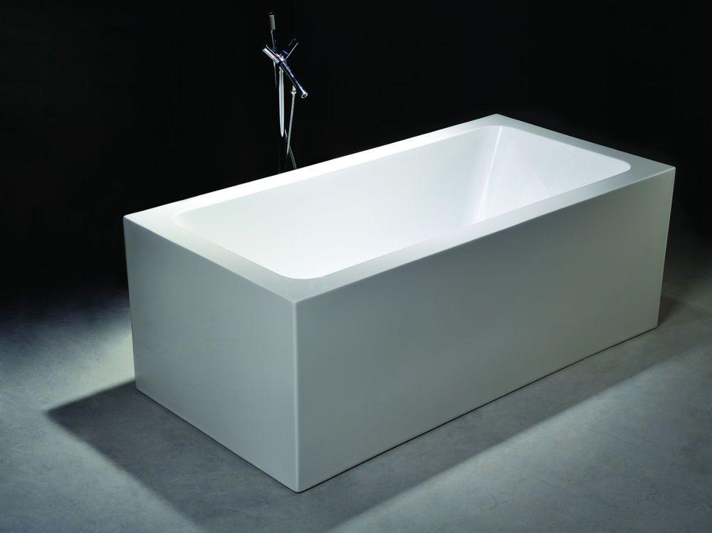 Bathroom Acrylic Free Standing Bath Tub 1500 x 750 x 600 ...