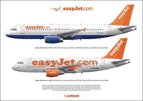 Easyjet Gb Airways Hybrid Livery Airbus A320 232 G Ttoc Easyjet