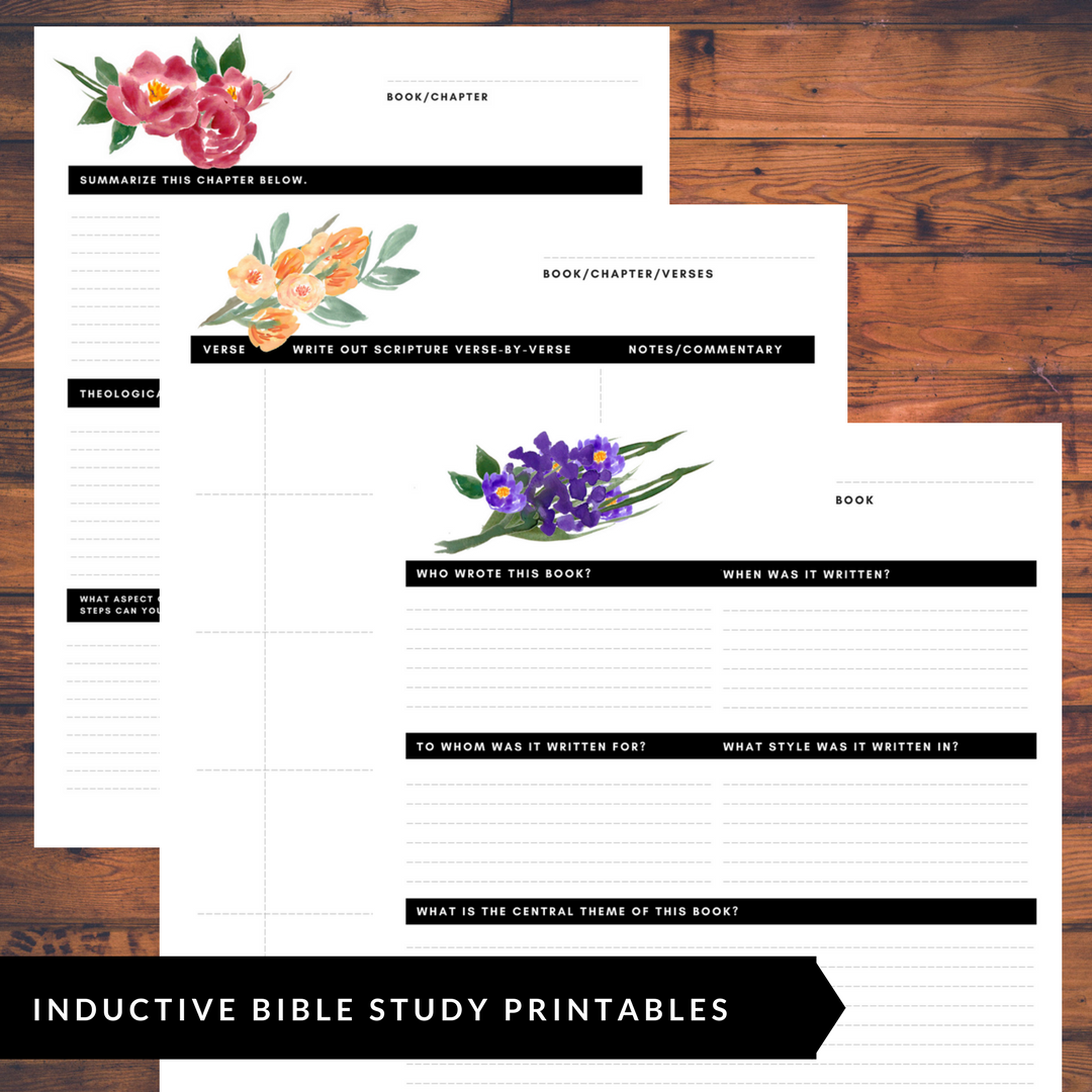 Inductive Bible Study Printable Bible Study Worksheets