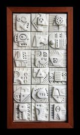 Terracotta Wall Sculpture by Ron Hitchens