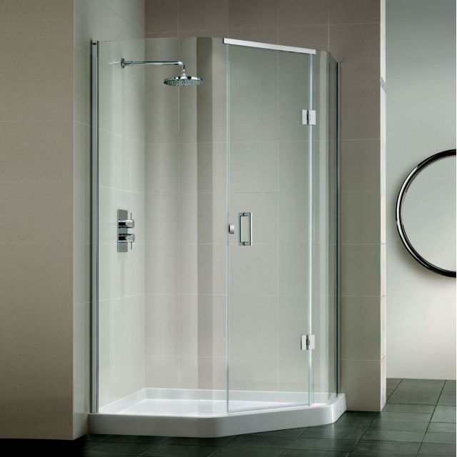 Matki Illusion Quintesse Shower Enclosure With Integrated Shower Tray Shower Cubicles Shower Enclosure Corner Shower