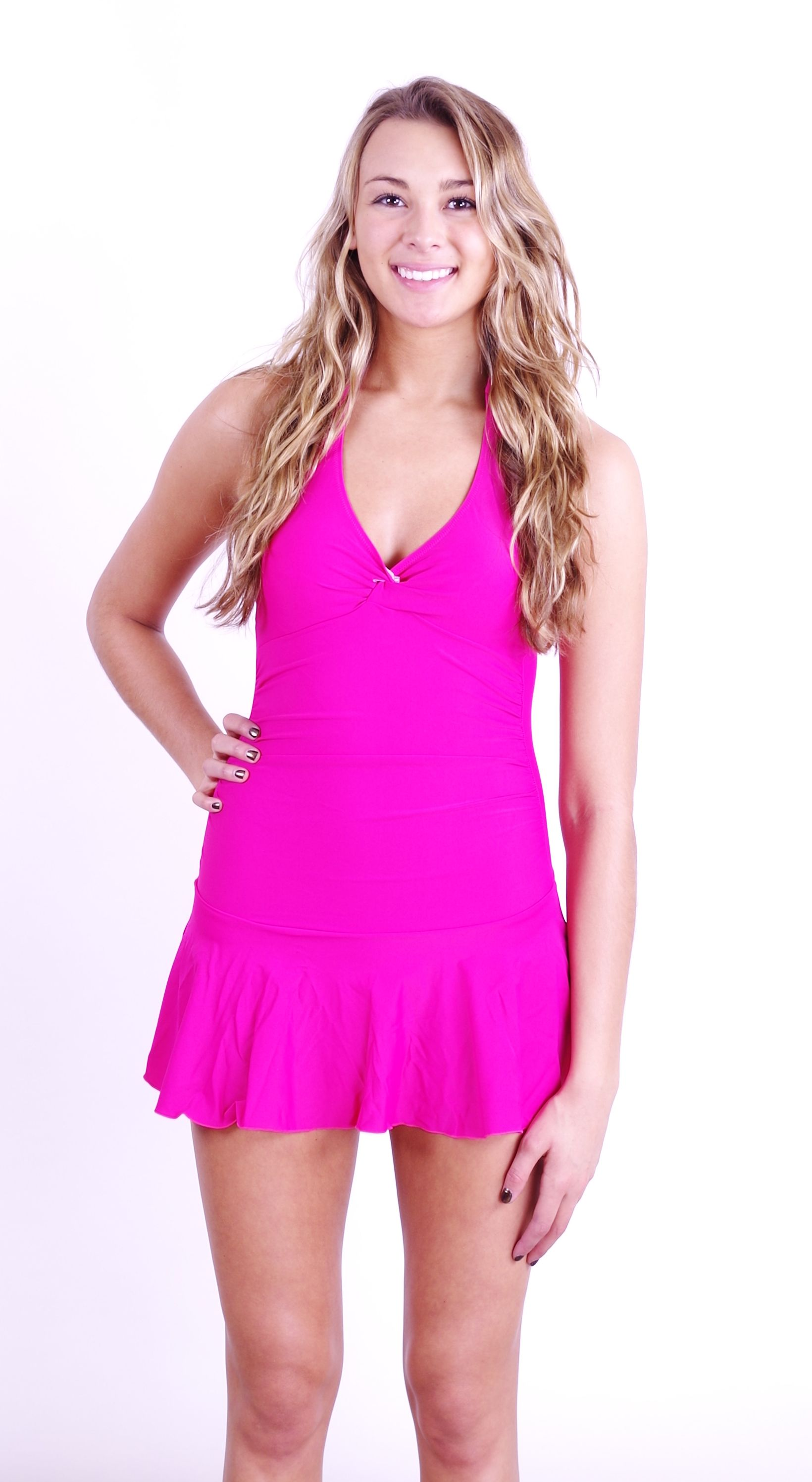 "The adorable ""Flirty"" swimdress/dresskini in pink. All fully lined with a padded top. Now 20% OFF : Only $47.99!"