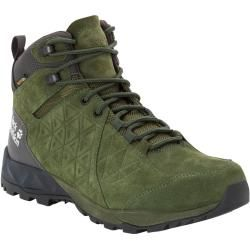 Photo of Jack Wolfskin Waterproof Men Hiking Shoes Cascade Hike Backlength Texapore Mid Men 46 green Jack