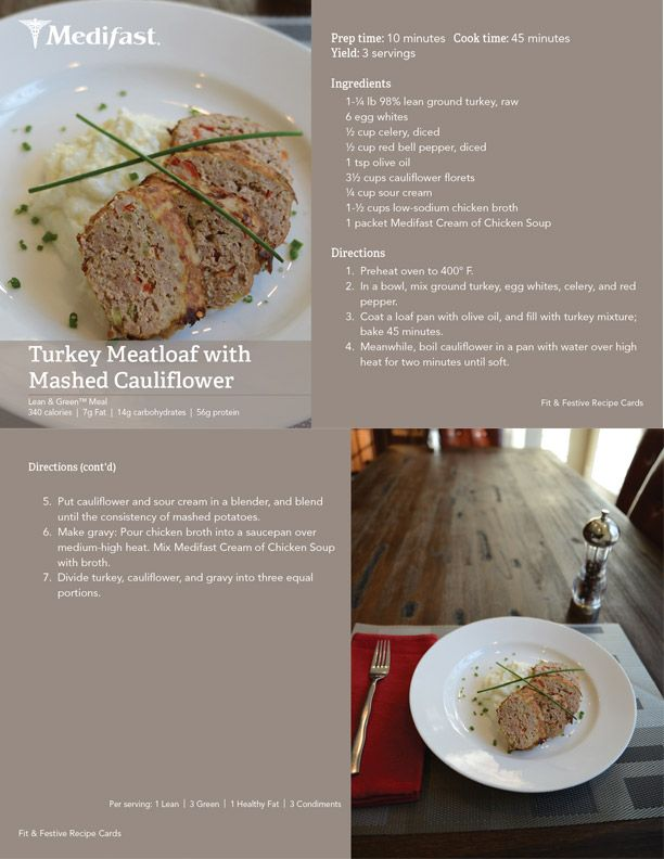 Meatloaf can be healthy. Try out this turkey version! #Medifast