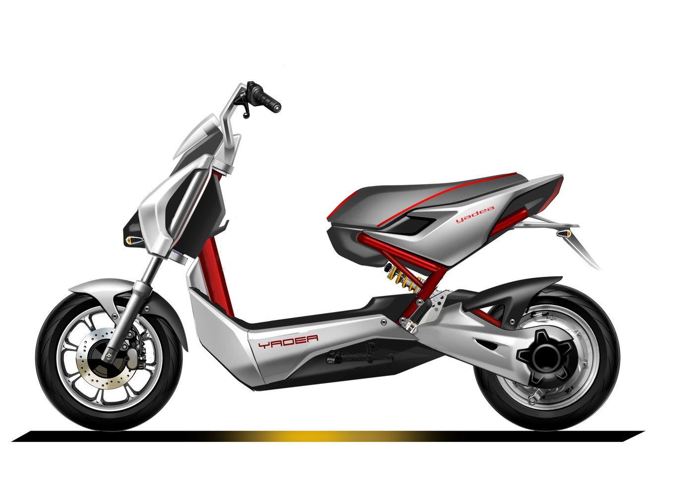 Yadea Electric Scooter By Lukes Lu At Coroflot Com Bike Sketch Motorbike Design Scooter Bike