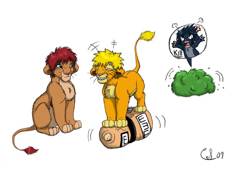 Some GaaNaru lions by Clawshawt on DeviantArt