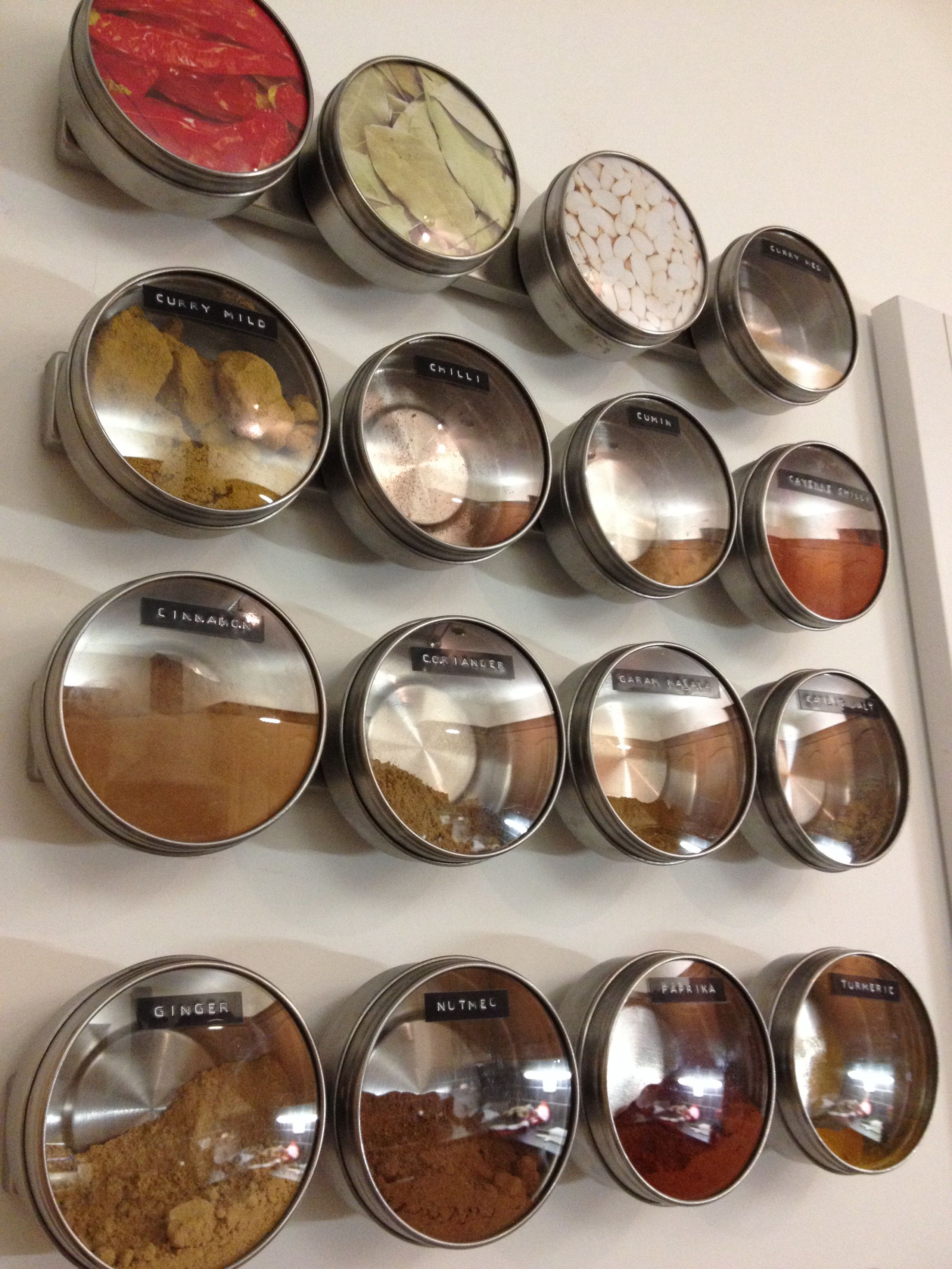Ikea magnetic spice containers grundtal range