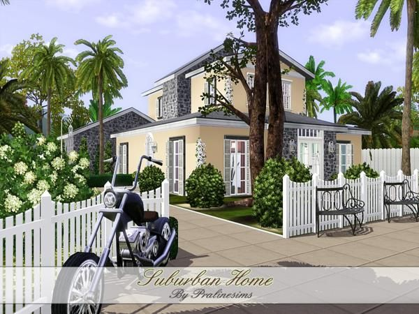 The Sims Resource - TSR Suburban cozy and lovely home by ...