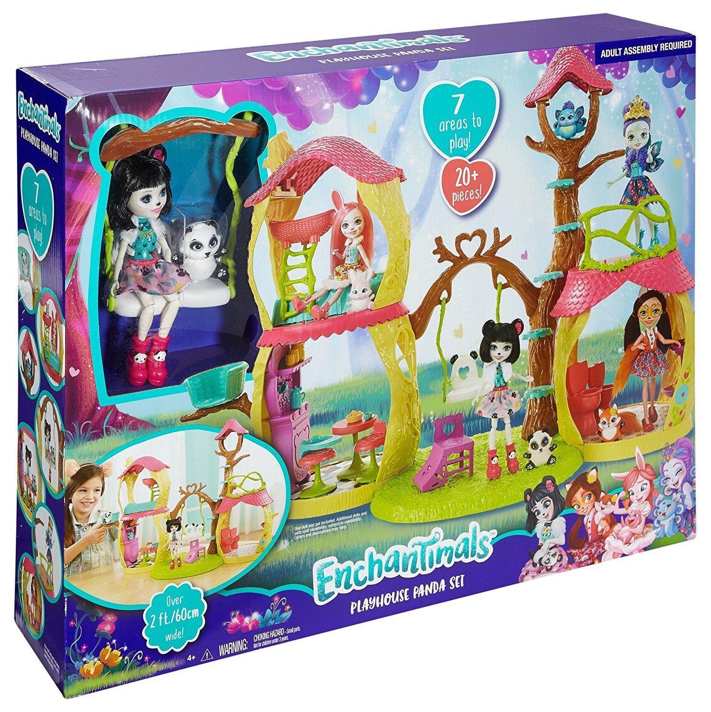 c32ef442a6 Enchantimals Panda Tree House Playset Littlest Pet Shop Preschool Toys  Pretend