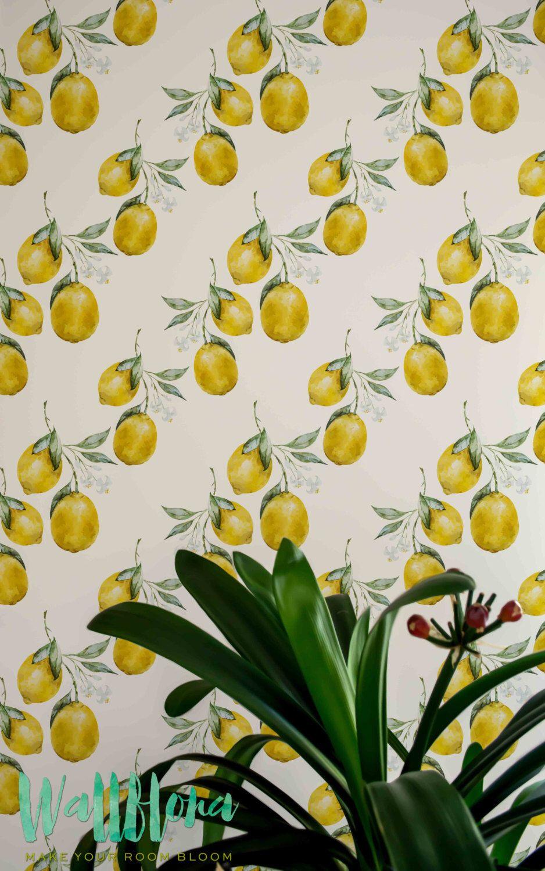 Lemon Wallpaper Removable Wallpaper Lemon Wallpaper Lemon Etsy Removable Wallpaper Self Adhesive Wallpaper Wallpaper