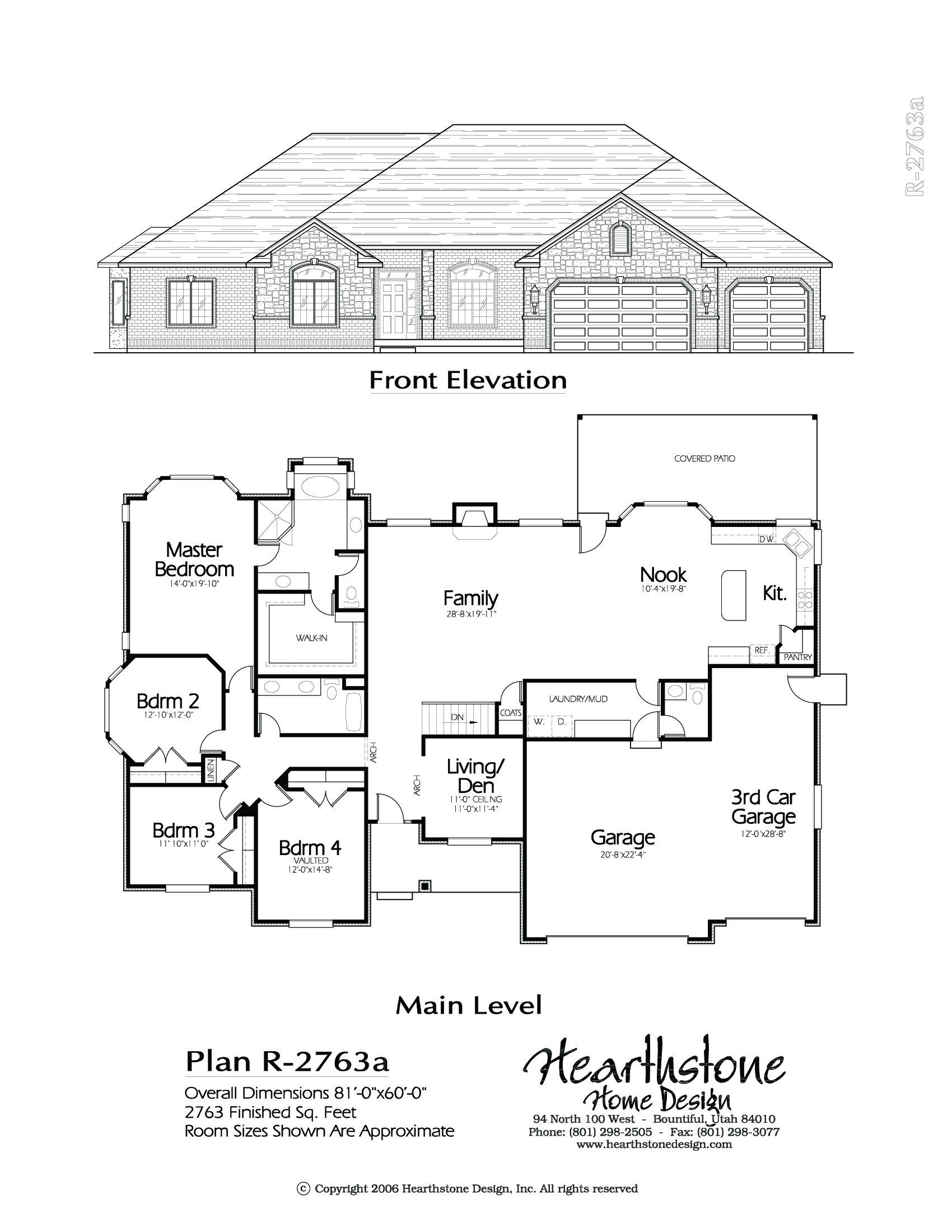 R 2763a Hearthstone Home Design Architectural House Plans House Plans Garage Plans