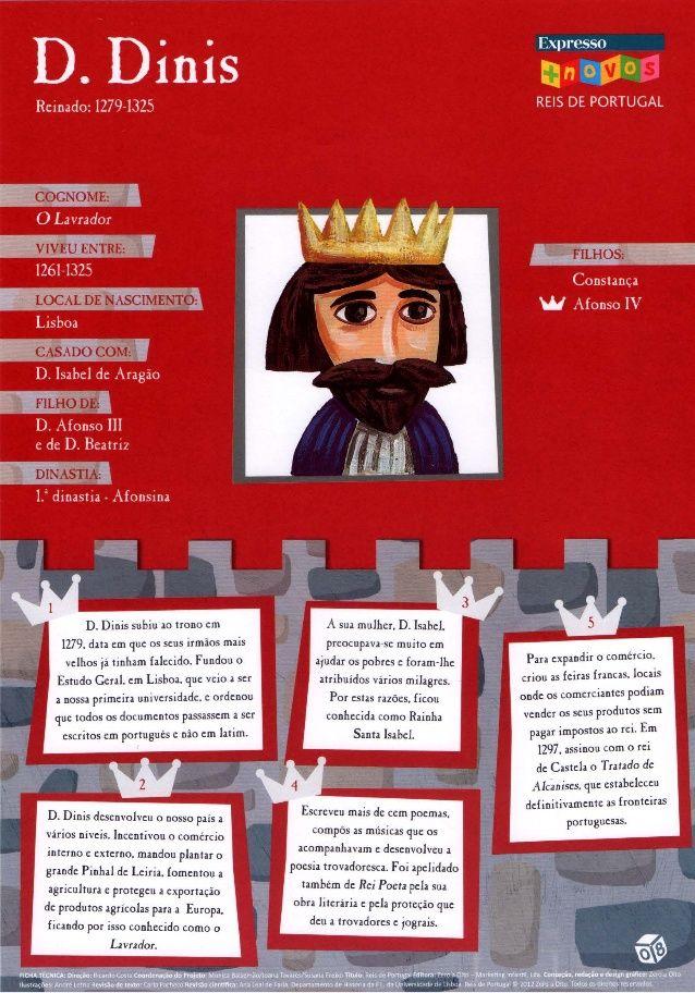 Reis De Portugal Historia De Portugal Fichas De Portugues Estudo Do Meio