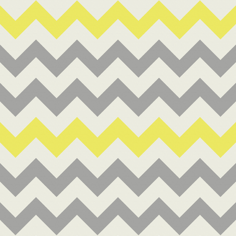Yellow Grey Chevron fabric by bluenini on Spoonflower - custom ...