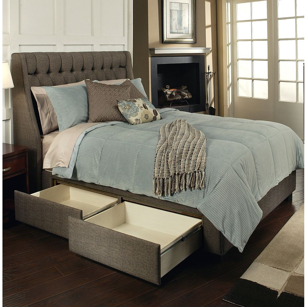 Cambridge Upholstered Storage Bed By Seahawk Designs Fabric Upholstered Bed Platform Headboard Under Storage Drawers Home Tufted Bedroom Set Bedroom Makeover