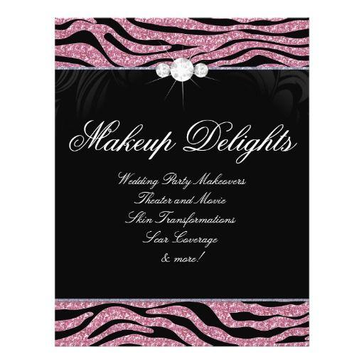 jewelry flyer hair salon zebra