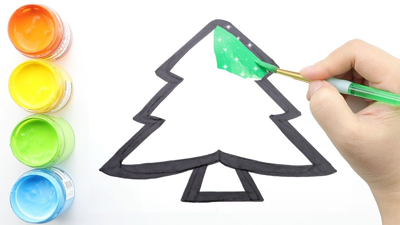 Glitter Christmas Tree Ornaments Coloring And Drawing For Kids Toddlers In 2020 Glitter Christmas Tree Ornaments Christmas Tree Ornaments