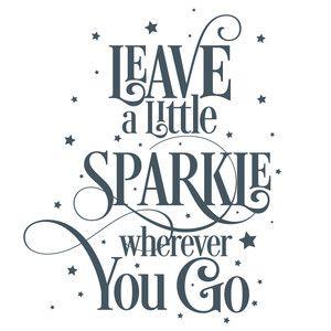 Silhouette Design Store: Leave A Little Sparkle