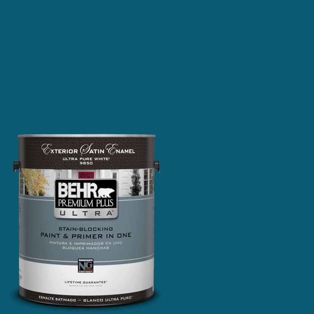Behr Premium Plus Ultra 1 Gal 540d 7 Deep Blue Sea Matte Interior