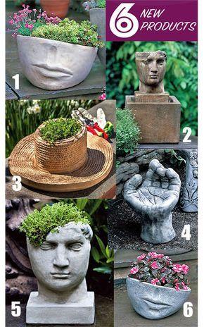 Fun Backyard   Pinterest   Head Planters, Planters And Gardens