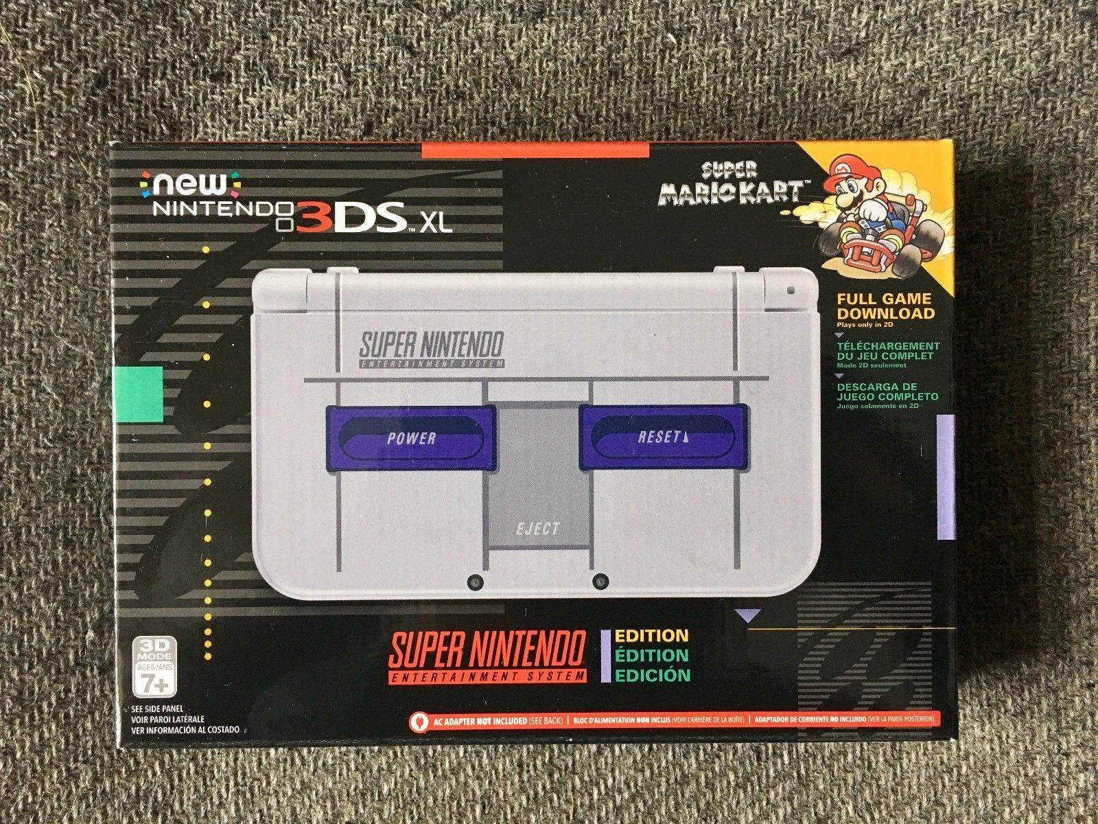 Nintendo 3ds Xl With Super Mario Cart Super Nintendo Edition