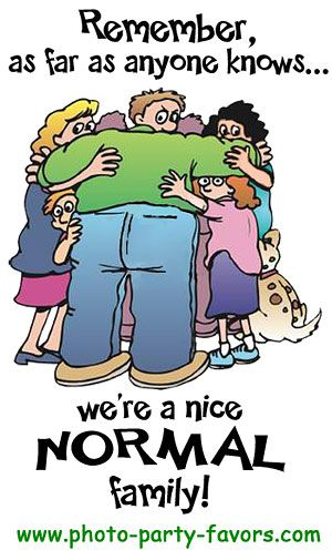 Family Reunion Cartoon - Remember, as far as anyone knows ...