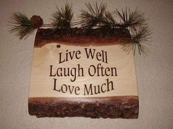 Inspirational Rustic Sign Live Well Laugh Often by RUSTICNORTHERN, $20.00
