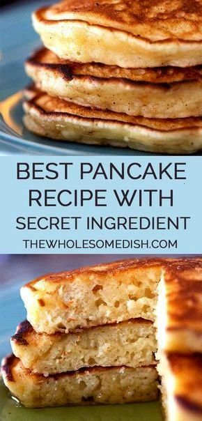 Best Pancake Recipe  The Wholesome Dish  Best Pancake Recipe  This tasty pancake recipe is easy and has a secret ingredient that gives th The Best Pancake Recipe  The Who...