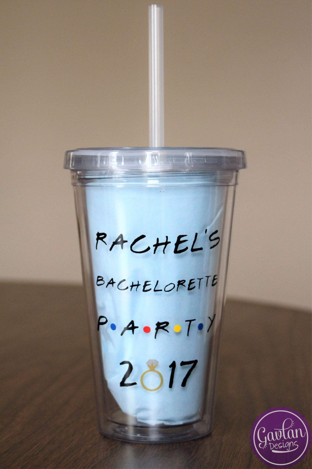 Four Custom Bachelorette Party Tumblers I'll Be There