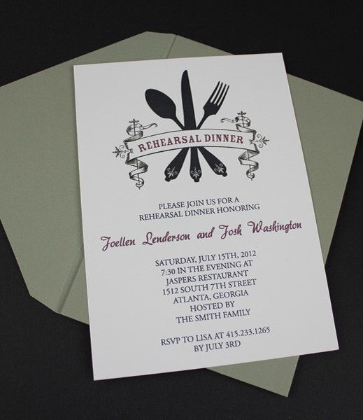Invitation Template u2013 Casual Rehearsal Dinner Invitation - free dinner invitation templates