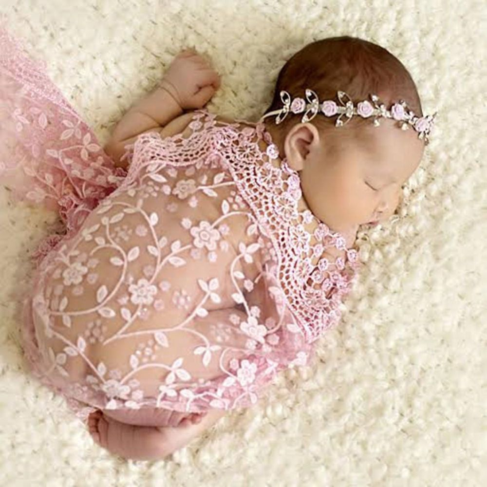 Thin embroidery lace baby photography props blanket newborn photography wraps tassel handmade scarf baby photo props accessories click on the
