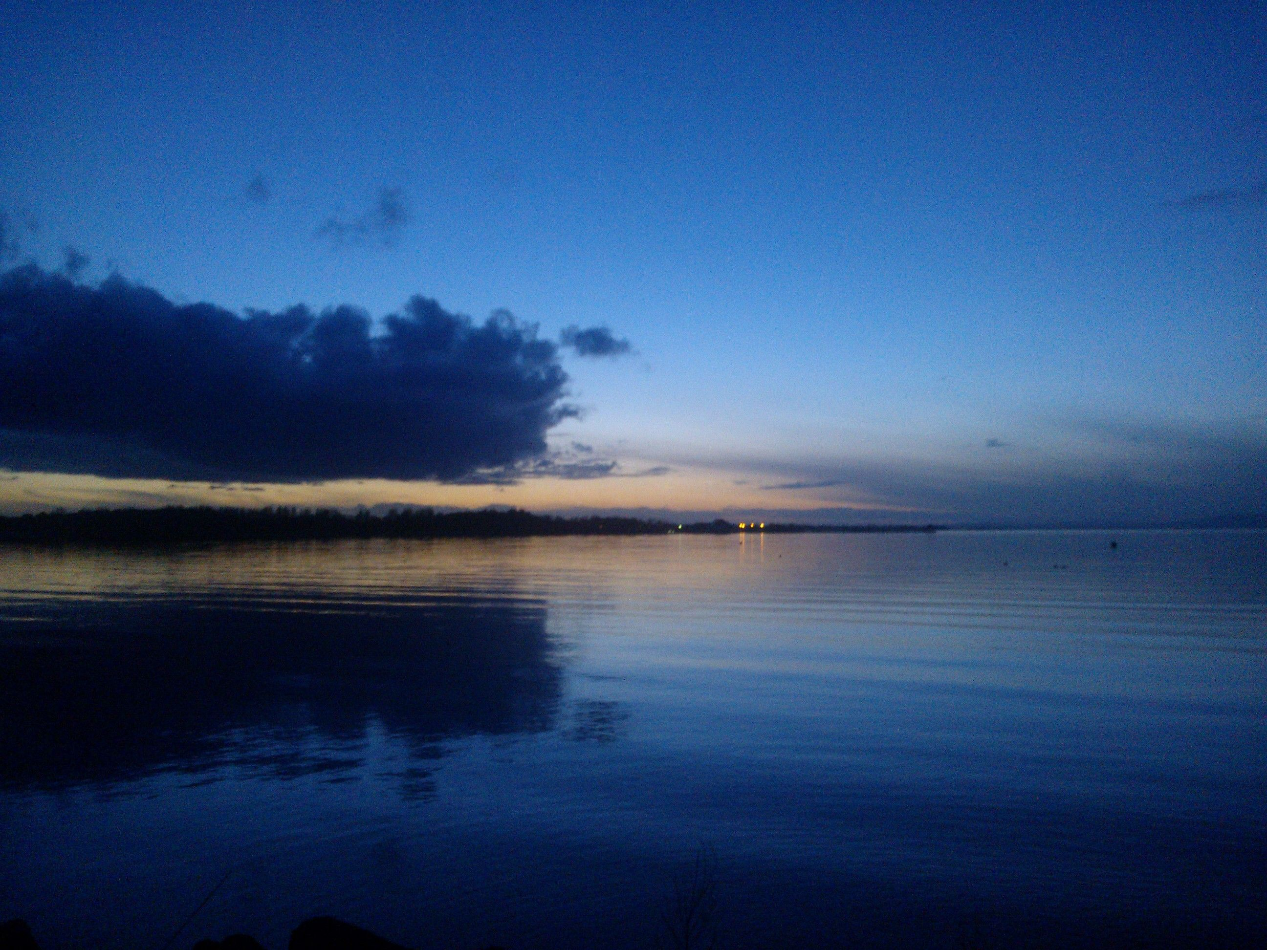 out for a walk along the shores of lough neagh last night