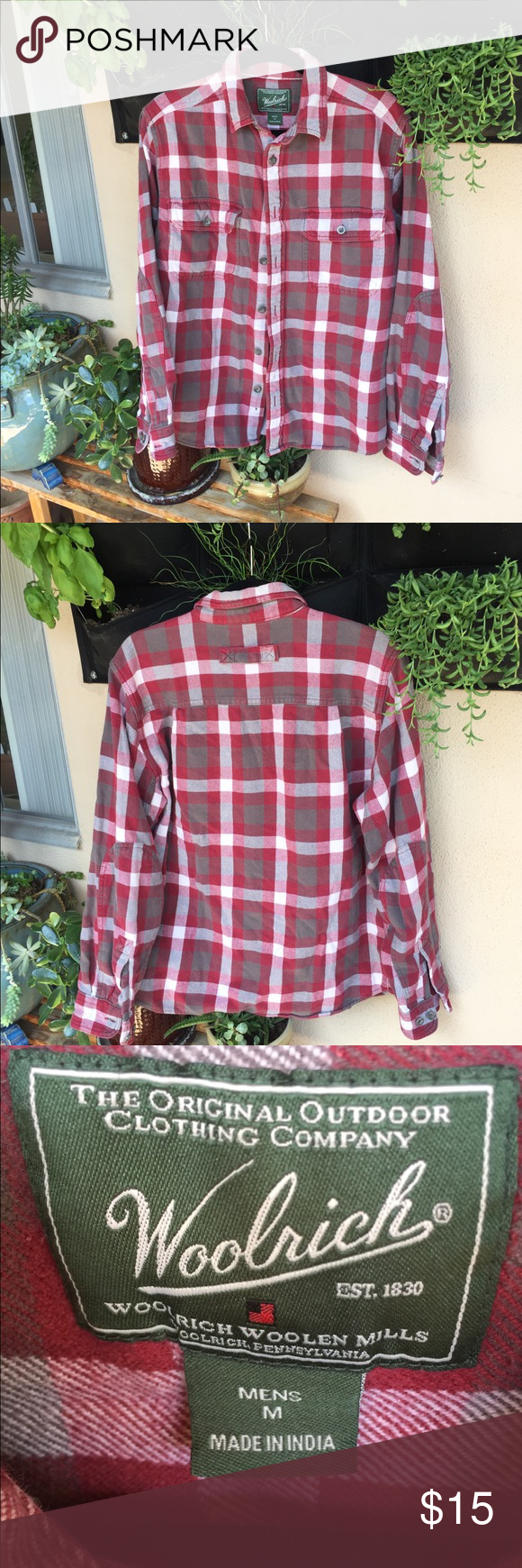 Red flannel shirt black jeans  Woolrich Menus Plaid Heavy Cotton Flannel Shirt  Rondiius Closet