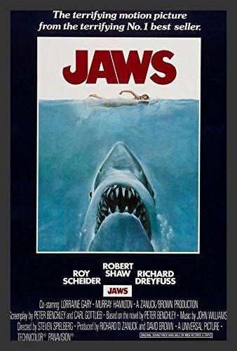 Jaws Movie Poster Framed Vintage Advertisement Jaws Movie Poster Jaws Movie Spielberg