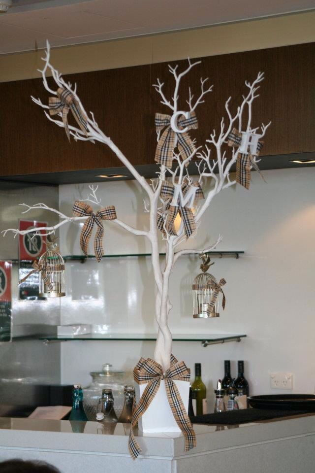 Burberry Theme Christening Decorations