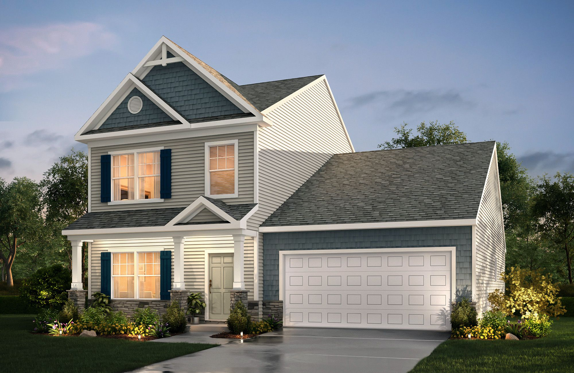 Devin E F3 True Homes House Styles House Elevation