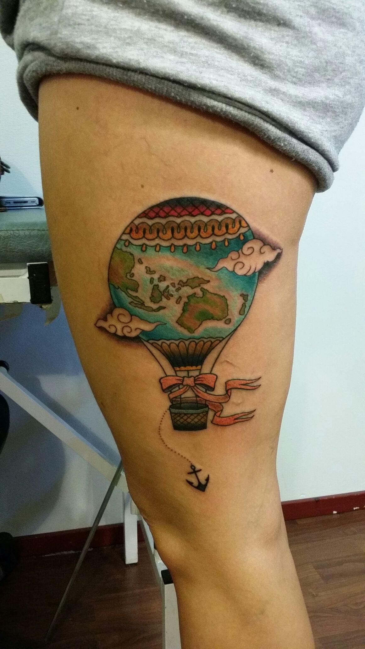hot air balloon tattoo - Google Search | Tattoos ...