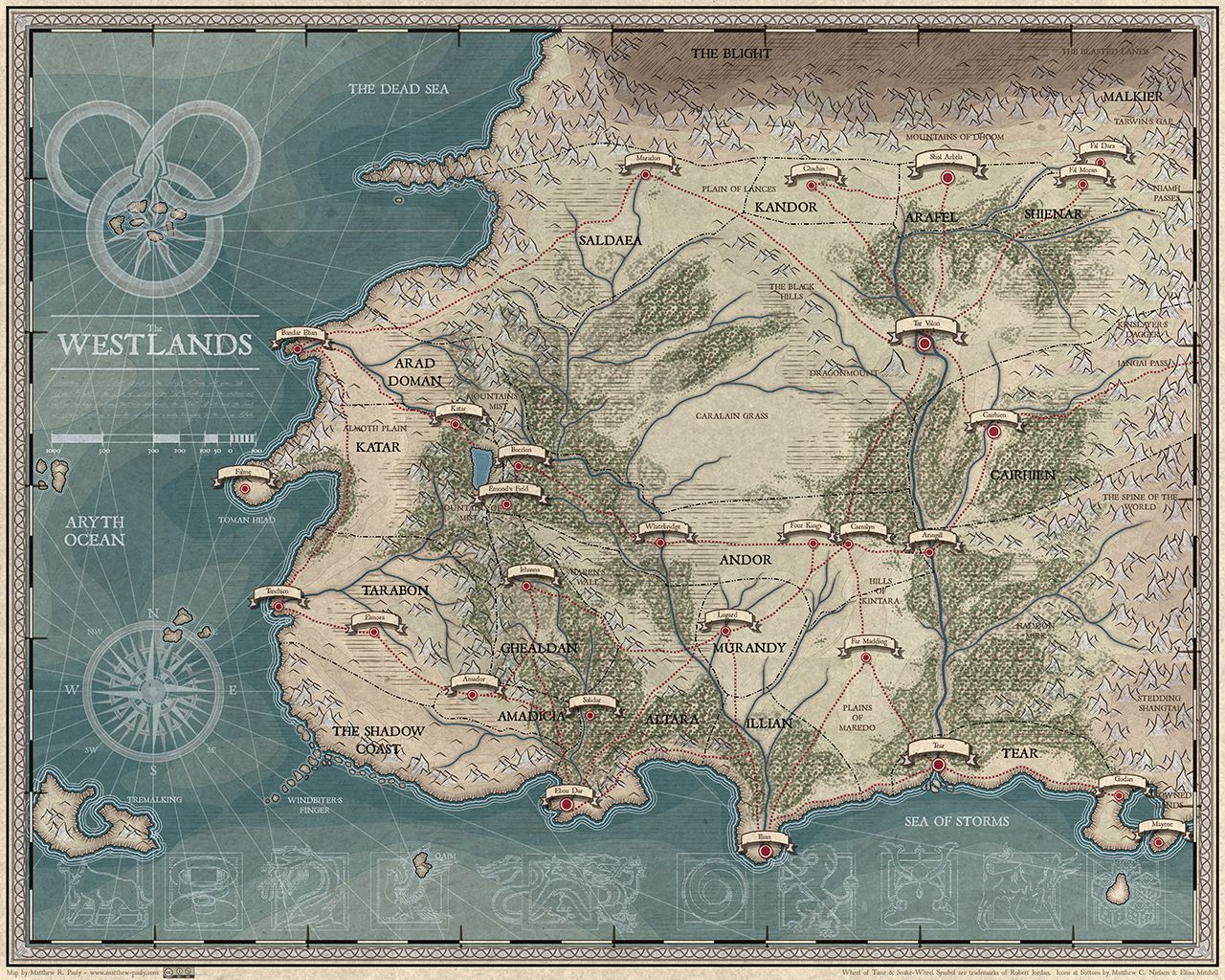 Wheel of time map wot for world world map picture map