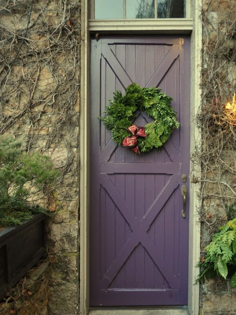 Deliciously Organized Christmas Pinterest Purple Front Doors