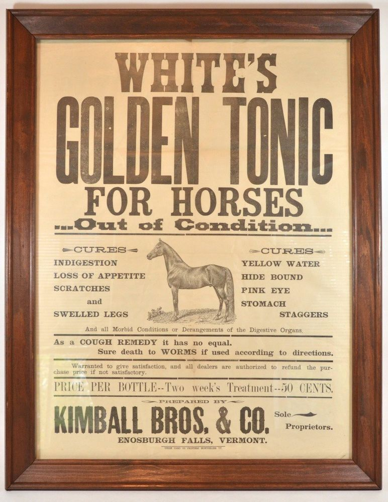 Details about Whites Golden Horse Tonic Mid 1800's Equine