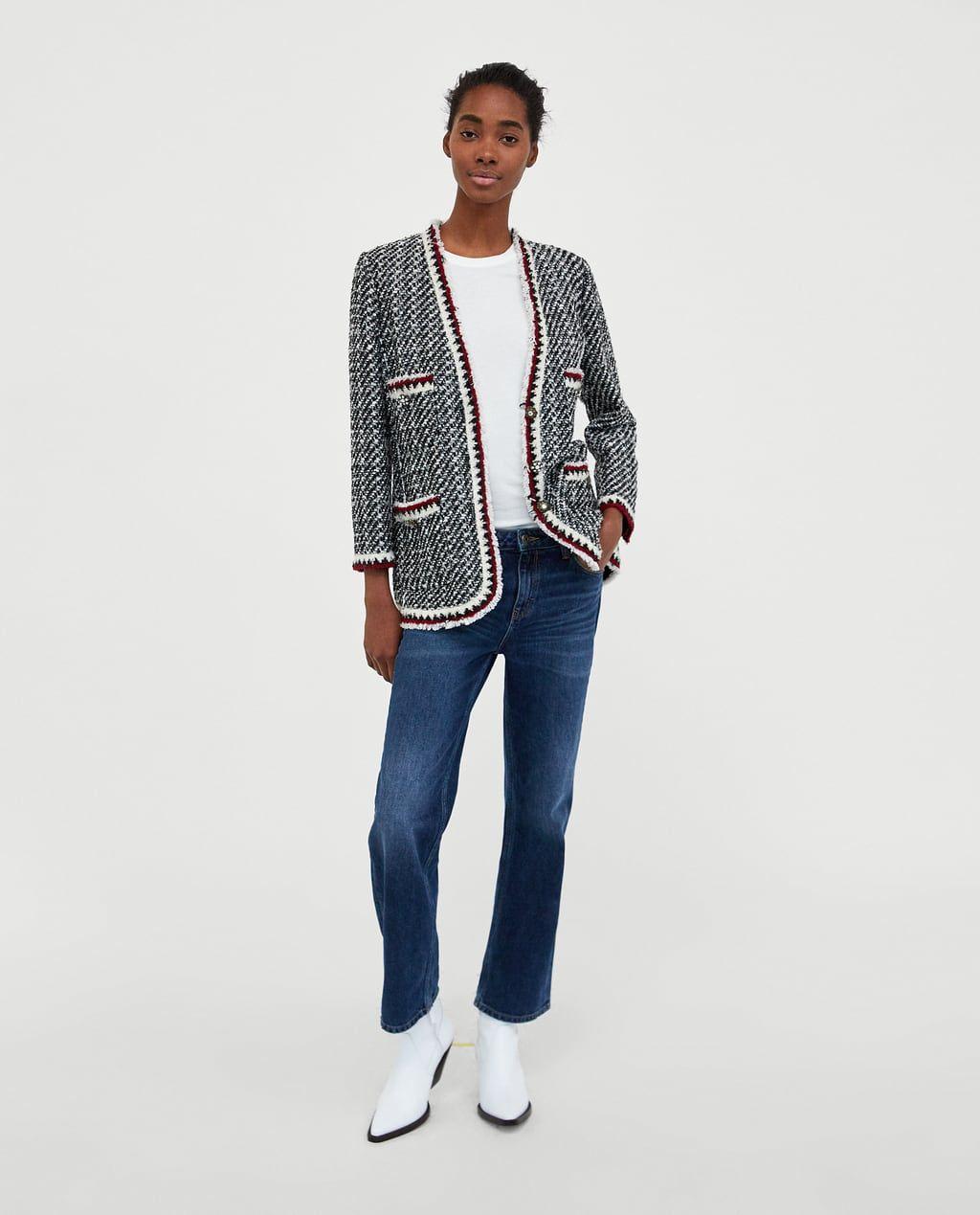 CHAQUETA TWEED | Fashion | Pinterest | Tweed, Chaquetas y Zara