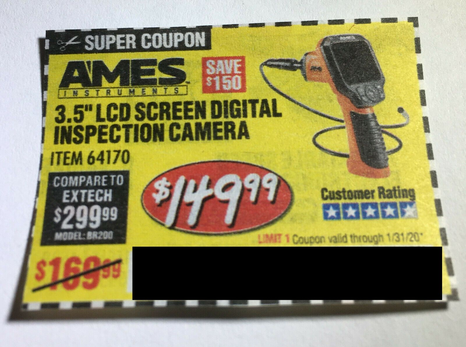Coupon to save on 3.5″ LCD Screen Digital Inspection