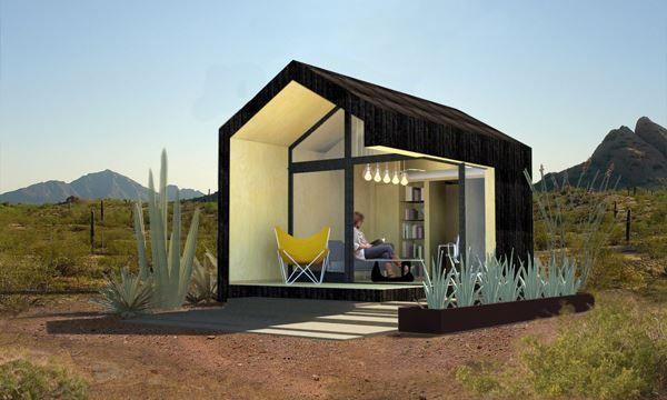 cinder box micro dwelling architecture pinterest maison pr fabriqu e pr fabriqu et maison. Black Bedroom Furniture Sets. Home Design Ideas