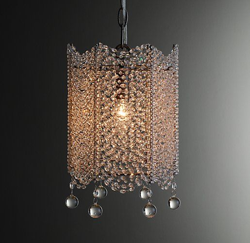 Rh babys coco crystal accent chandelierdraped strands of faceted crystals form a glittering surround for our coco chandelier candelabra bulbs