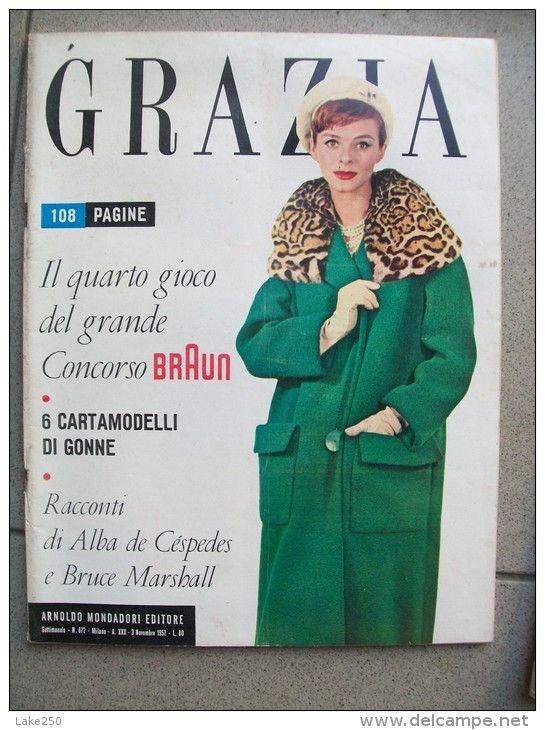 GRAZIA rivista di moda italiana 3/11/1957