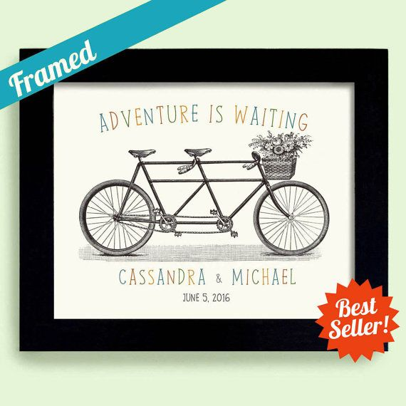 Adventure Awaits Wedding Ticket Personalized Wedding Gift For Couple