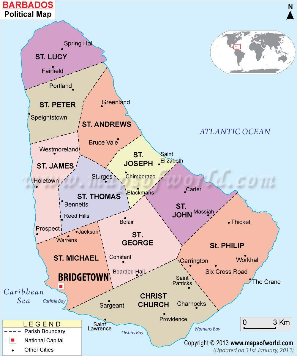 Barbados Map | Visit barbados, Barbados resorts, Barbados